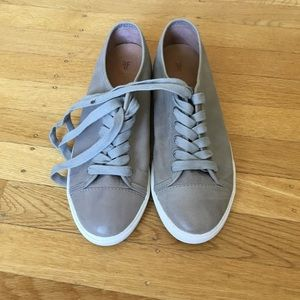 Frye gray leather sneakers 9